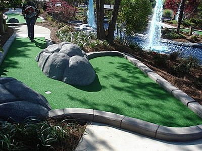 remodel of a mini golf course