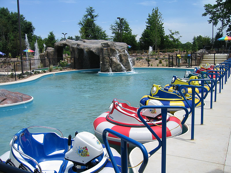 layout of a fun park with bumper boats