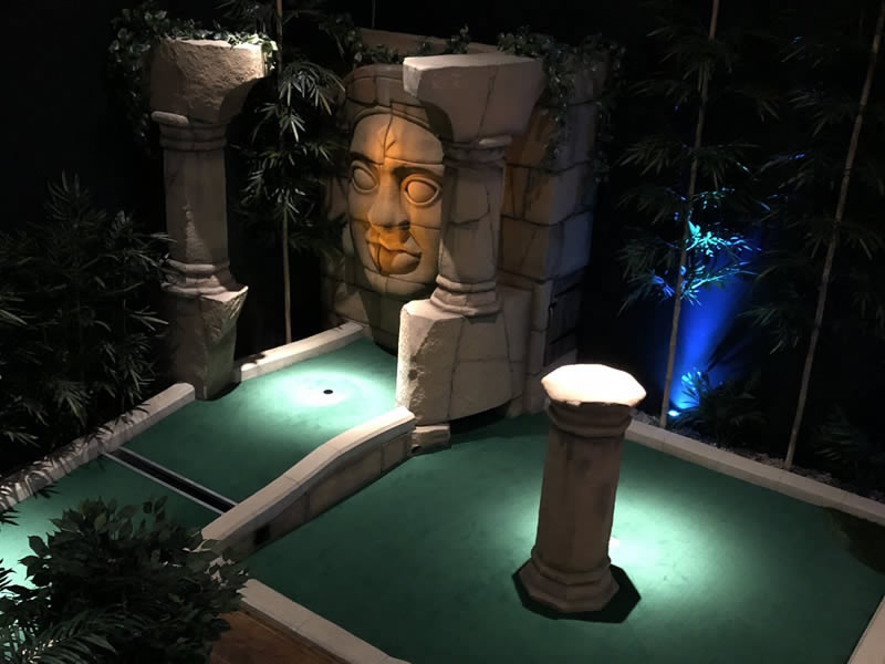 Lost city mini golf